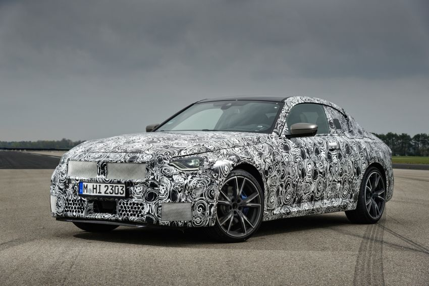 2022 BMW 2 Series Coupe officially teased before debut – M240i xDrive to lead variant range with 374 PS Image #1294302