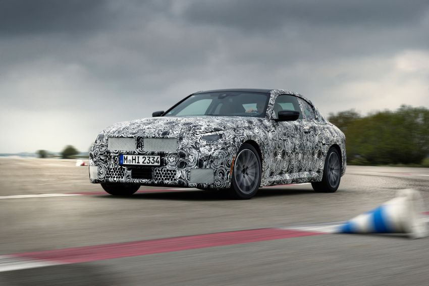 2022 BMW 2 Series Coupe officially teased before debut – M240i xDrive to lead variant range with 374 PS Image #1294206