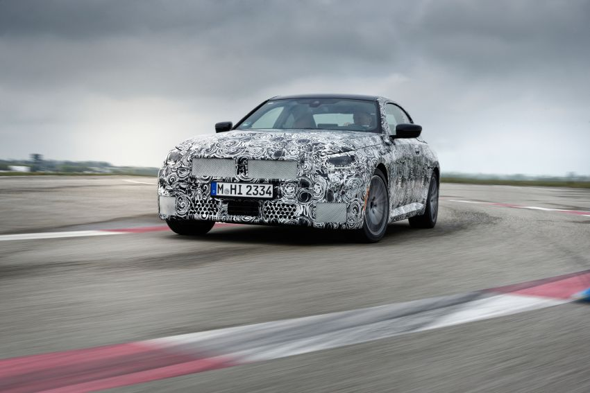 2022 BMW 2 Series Coupe officially teased before debut – M240i xDrive to lead variant range with 374 PS Image #1294207