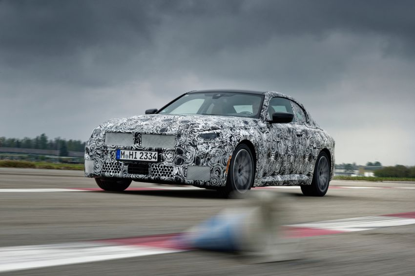 2022 BMW 2 Series Coupe officially teased before debut – M240i xDrive to lead variant range with 374 PS Image #1294210