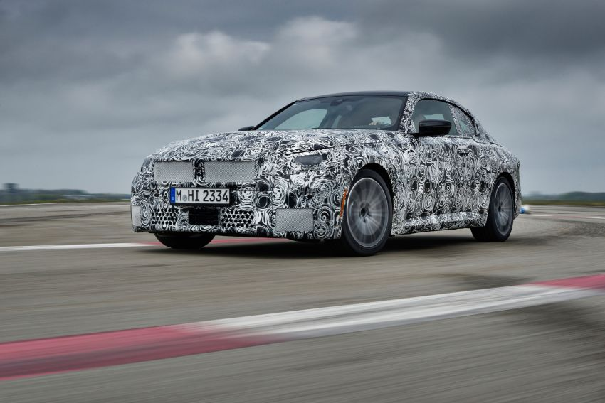 2022 BMW 2 Series Coupe officially teased before debut – M240i xDrive to lead variant range with 374 PS Image #1294212