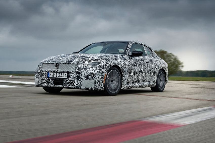2022 BMW 2 Series Coupe officially teased before debut – M240i xDrive to lead variant range with 374 PS Image #1294213