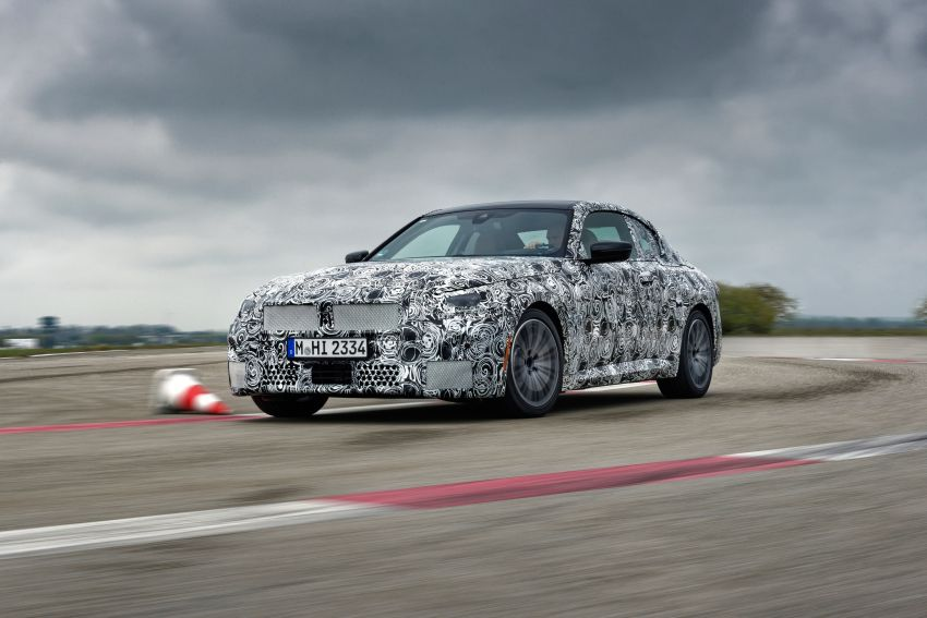 2022 BMW 2 Series Coupe officially teased before debut – M240i xDrive to lead variant range with 374 PS Image #1294214
