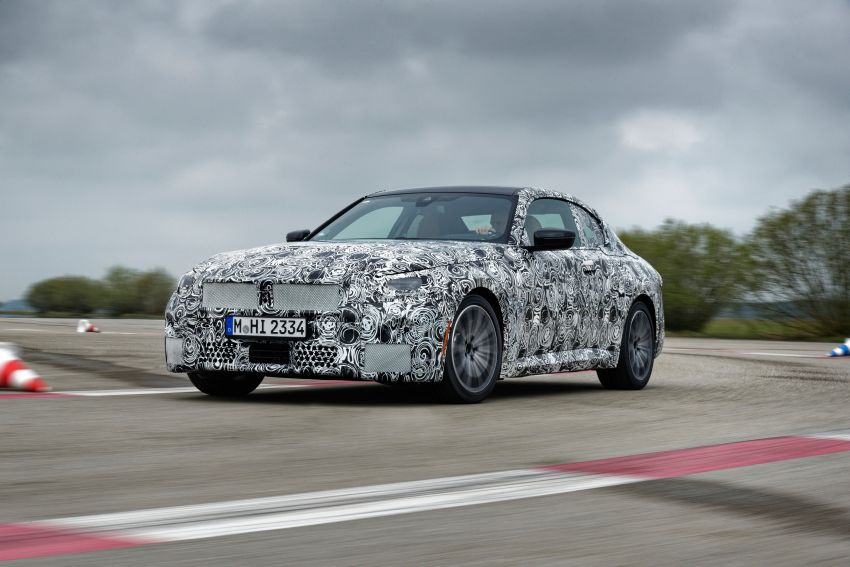 2022 BMW 2 Series Coupe officially teased before debut – M240i xDrive to lead variant range with 374 PS Image #1294215