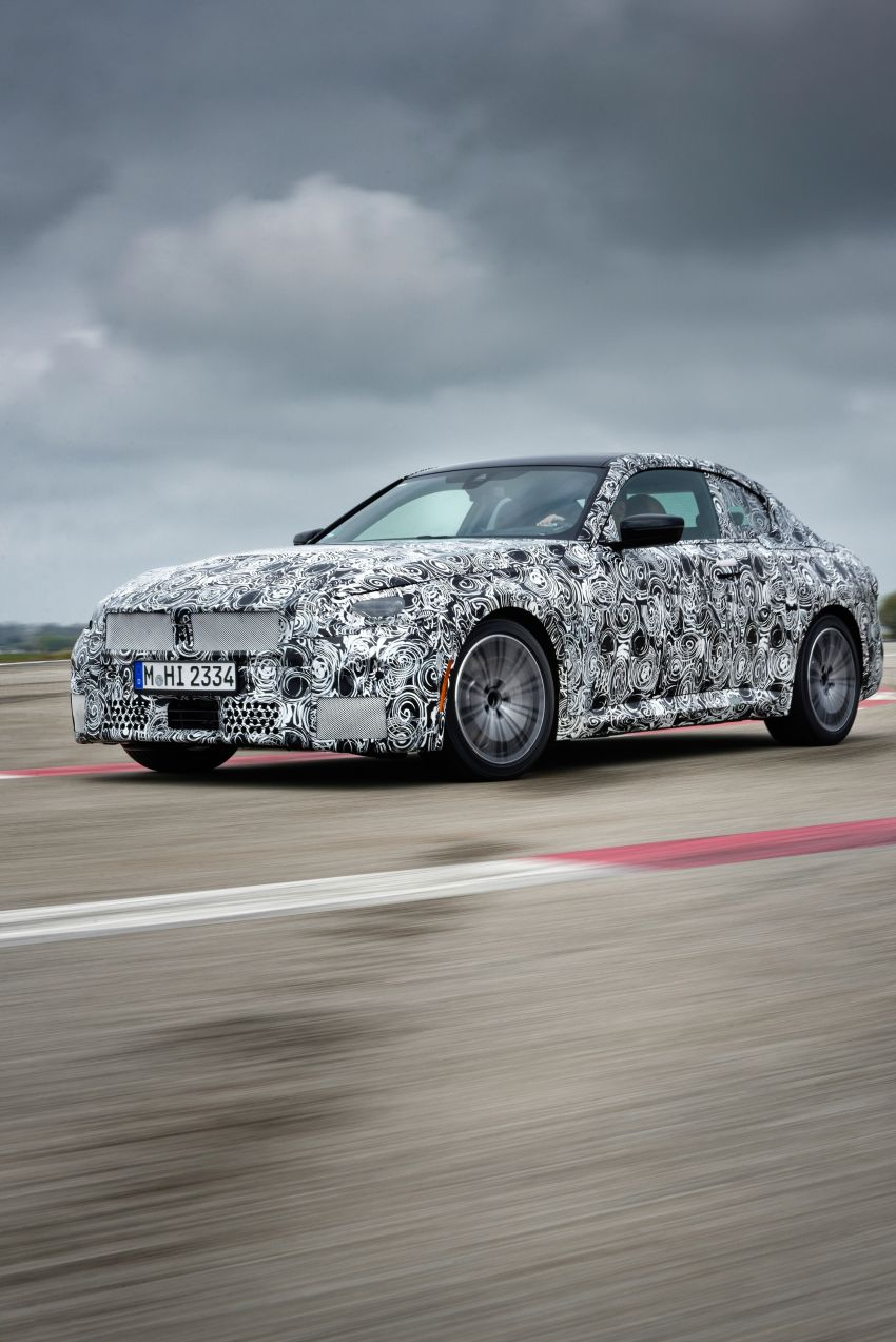 2022 BMW 2 Series Coupe officially teased before debut – M240i xDrive to lead variant range with 374 PS Image #1294223