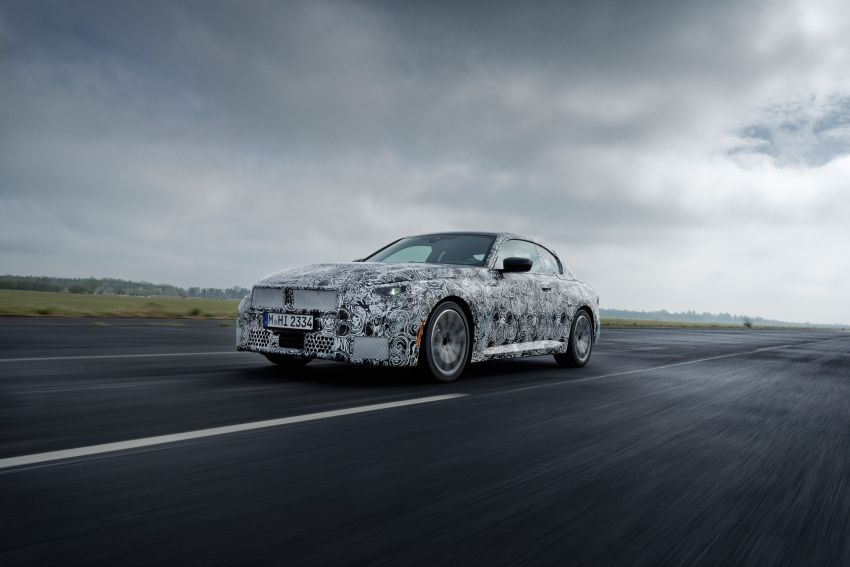 2022 BMW 2 Series Coupe officially teased before debut – M240i xDrive to lead variant range with 374 PS Image #1294197