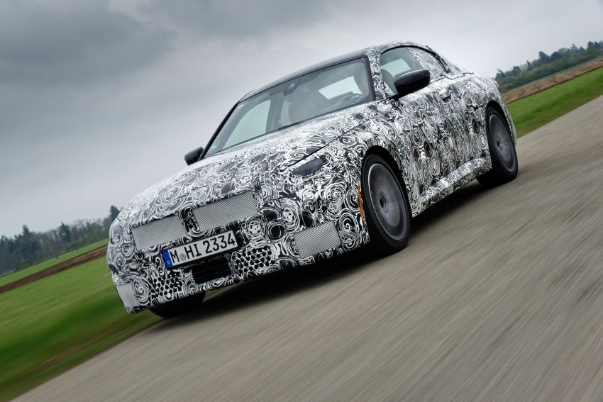 2022 BMW 2 Series Coupe officially teased before debut – M240i xDrive to lead variant range with 374 PS Image #1294226