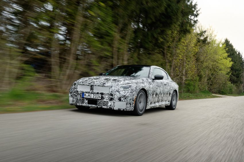 2022 BMW 2 Series Coupe officially teased before debut – M240i xDrive to lead variant range with 374 PS Image #1294227