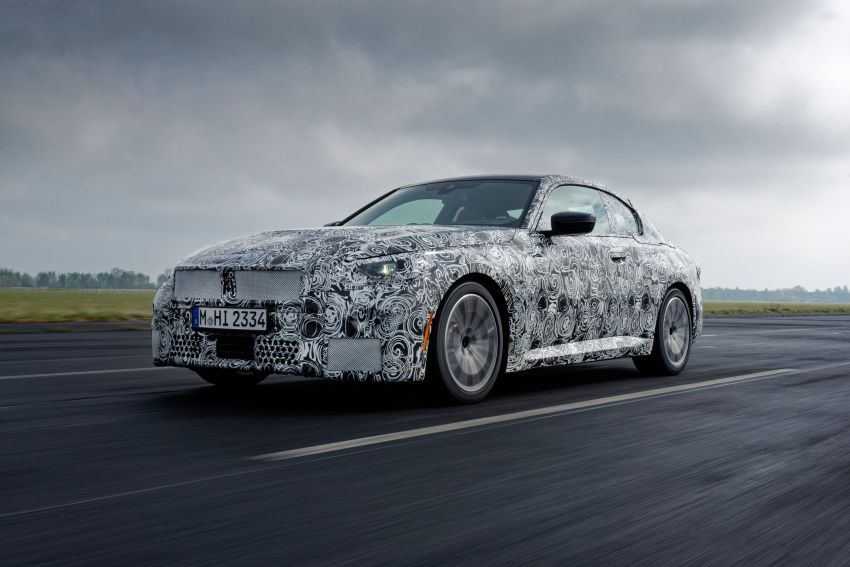2022 BMW 2 Series Coupe officially teased before debut – M240i xDrive to lead variant range with 374 PS Image #1294198