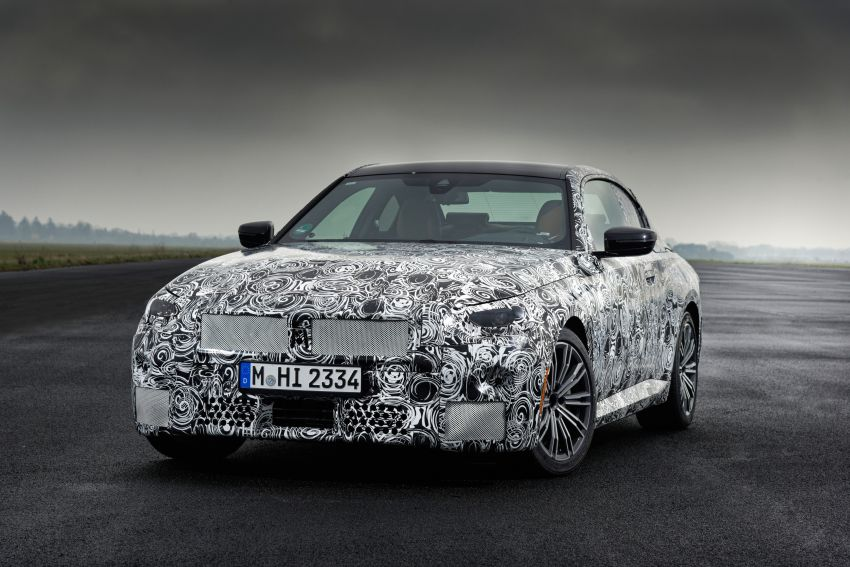 2022 BMW 2 Series Coupe officially teased before debut – M240i xDrive to lead variant range with 374 PS Image #1294240