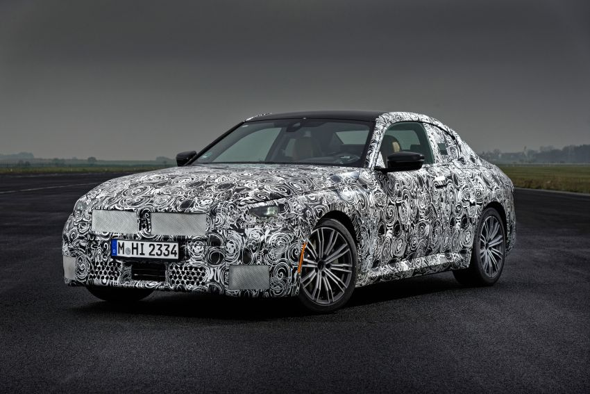 2022 BMW 2 Series Coupe officially teased before debut – M240i xDrive to lead variant range with 374 PS Image #1294241