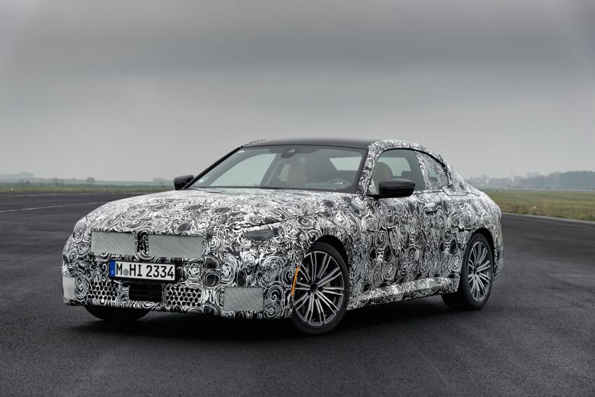 2022 BMW 2 Series Coupe officially teased before debut – M240i xDrive to lead variant range with 374 PS Image #1294244