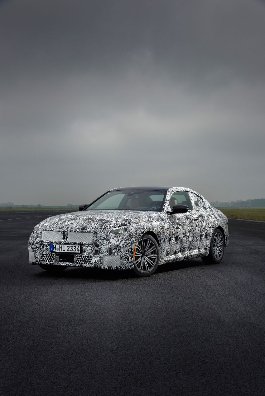 2022 BMW 2 Series Coupe officially teased before debut – M240i xDrive to lead variant range with 374 PS Image #1294246