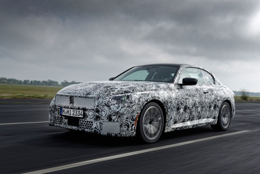 2022 BMW 2 Series Coupe officially teased before debut – M240i xDrive to lead variant range with 374 PS Image #1294199