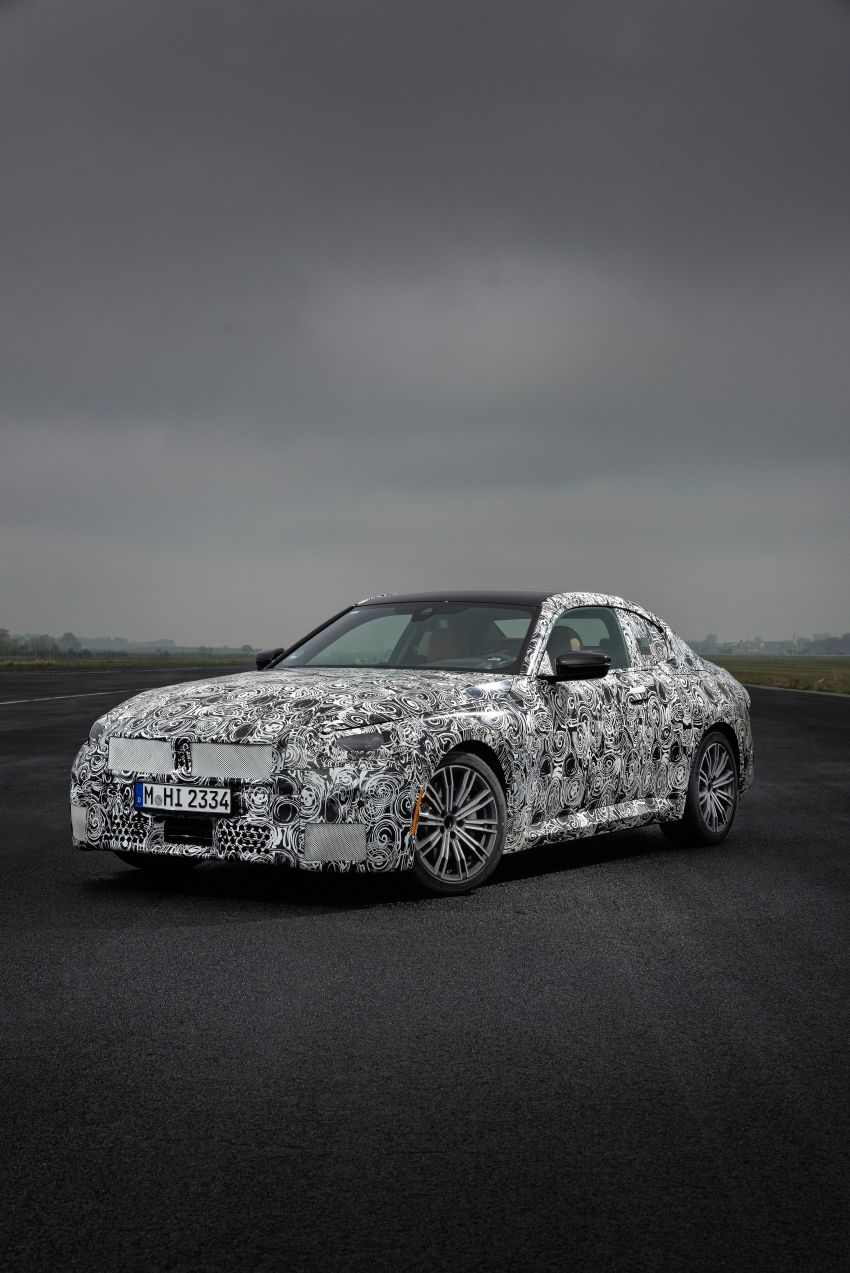 2022 BMW 2 Series Coupe officially teased before debut – M240i xDrive to lead variant range with 374 PS Image #1294247