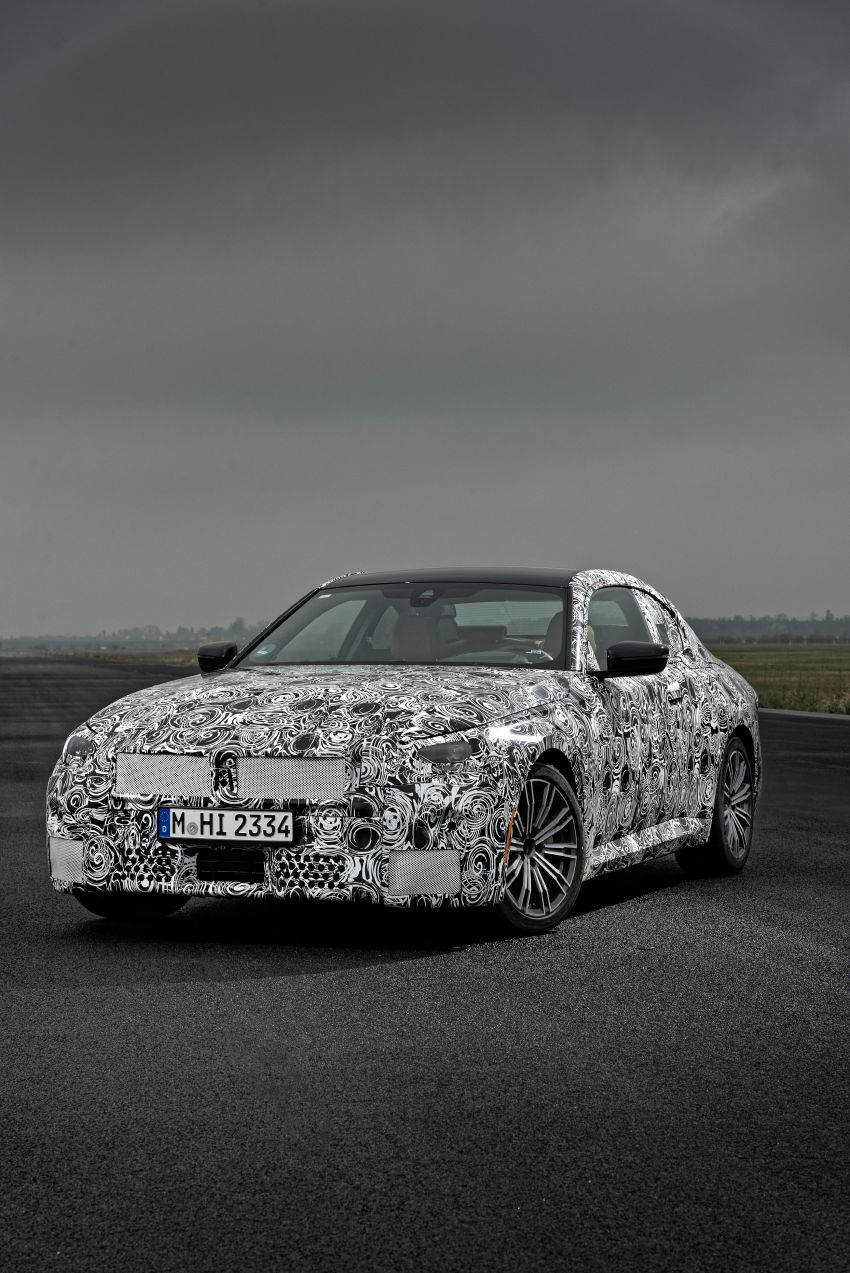 2022 BMW 2 Series Coupe officially teased before debut – M240i xDrive to lead variant range with 374 PS Image #1294248