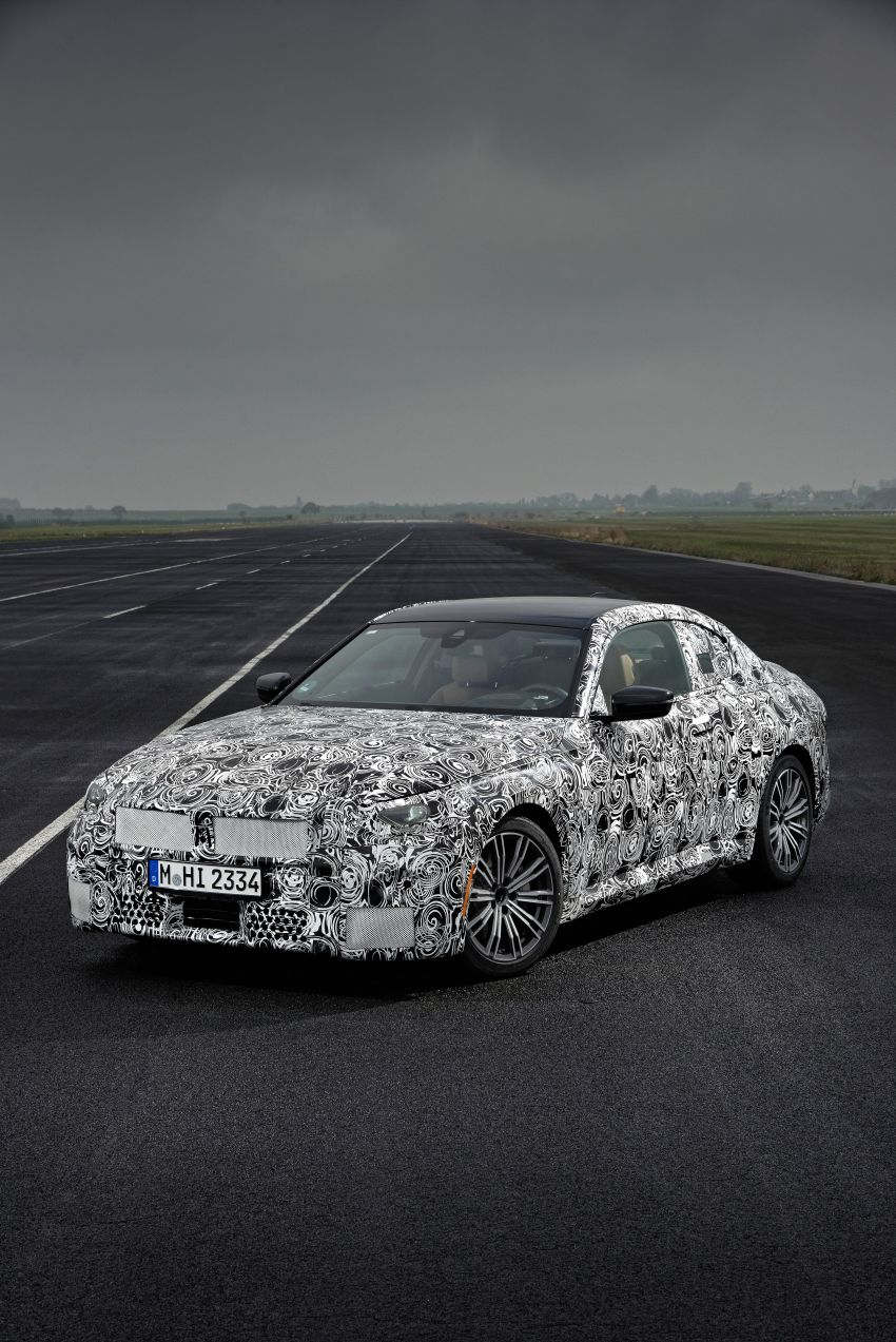 2022 BMW 2 Series Coupe officially teased before debut – M240i xDrive to lead variant range with 374 PS Image #1294249