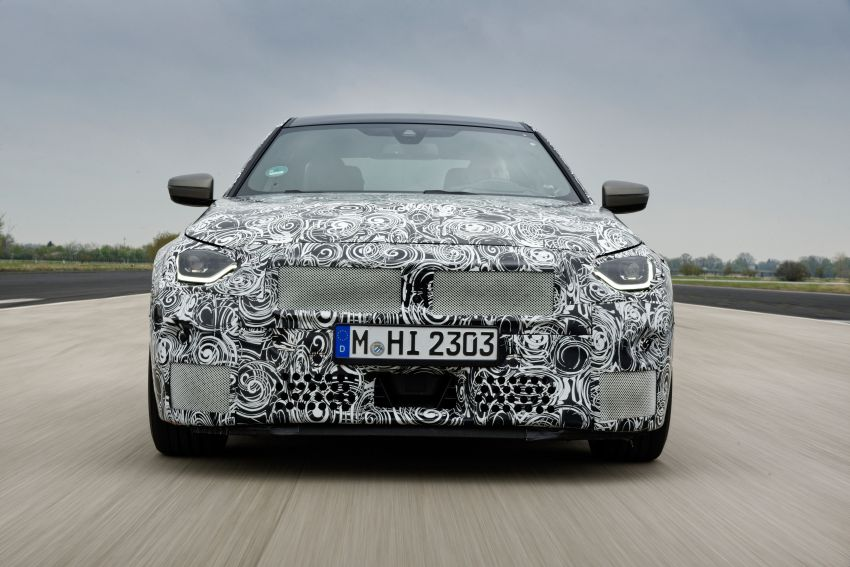 2022 BMW 2 Series Coupe officially teased before debut – M240i xDrive to lead variant range with 374 PS Image #1294256