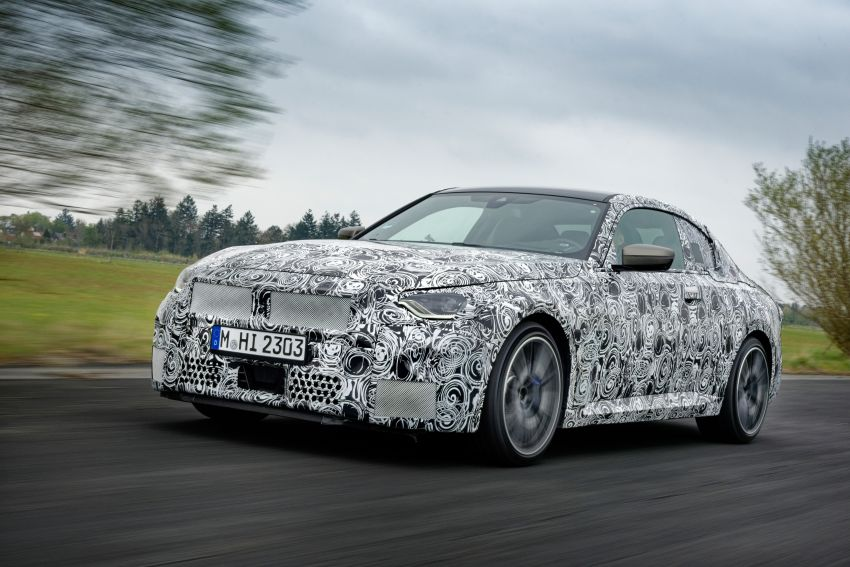 2022 BMW 2 Series Coupe officially teased before debut – M240i xDrive to lead variant range with 374 PS Image #1294260