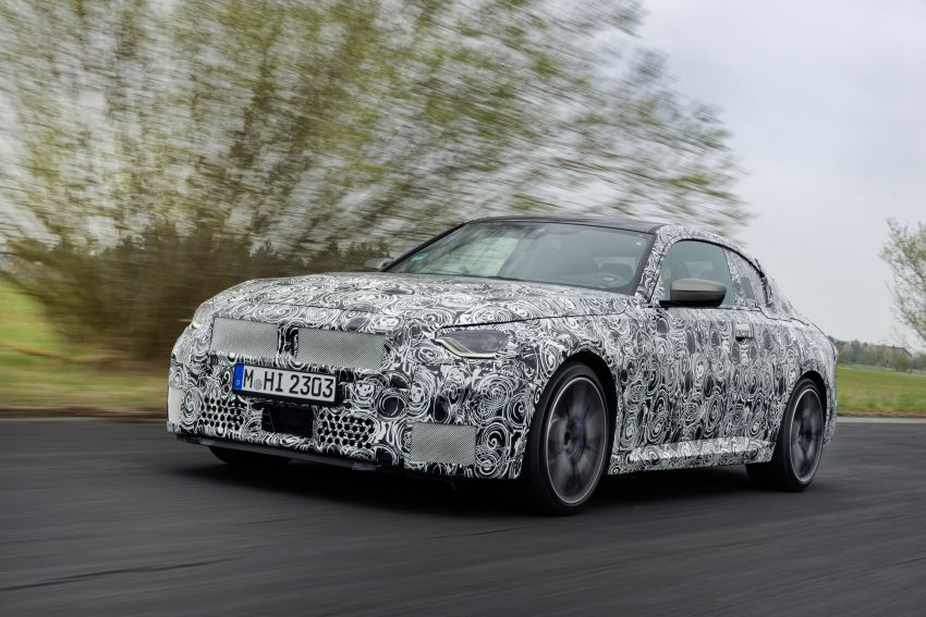 2022 BMW 2 Series Coupe officially teased before debut – M240i xDrive to lead variant range with 374 PS Image #1294261