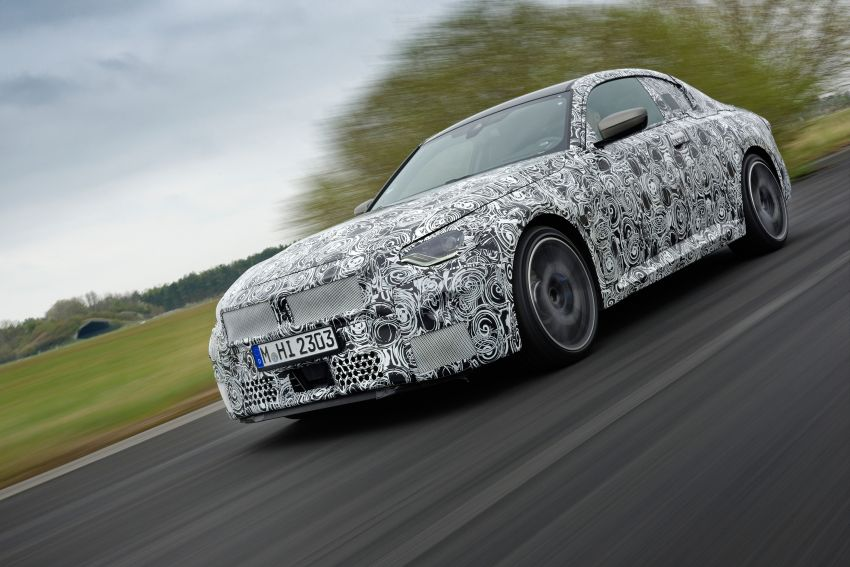 2022 BMW 2 Series Coupe officially teased before debut – M240i xDrive to lead variant range with 374 PS Image #1294263
