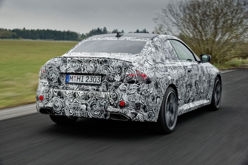 2022 BMW 2 Series Coupe officially teased before debut – M240i xDrive to lead variant range with 374 PS Image #1294268