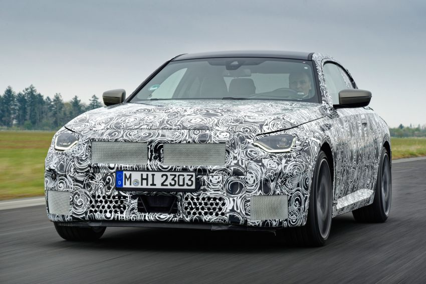 2022 BMW 2 Series Coupe officially teased before debut – M240i xDrive to lead variant range with 374 PS Image #1294269