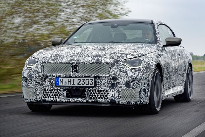 2022 BMW 2 Series Coupe officially teased before debut – M240i xDrive to lead variant range with 374 PS Image #1294270