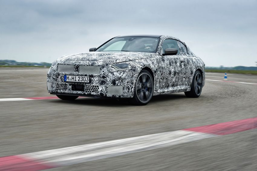 2022 BMW 2 Series Coupe officially teased before debut – M240i xDrive to lead variant range with 374 PS Image #1294281