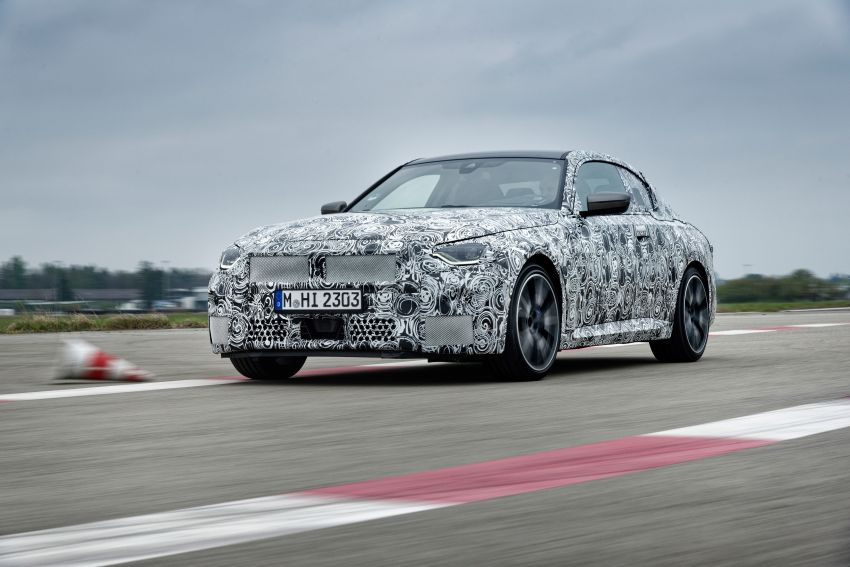 2022 BMW 2 Series Coupe officially teased before debut – M240i xDrive to lead variant range with 374 PS Image #1294282