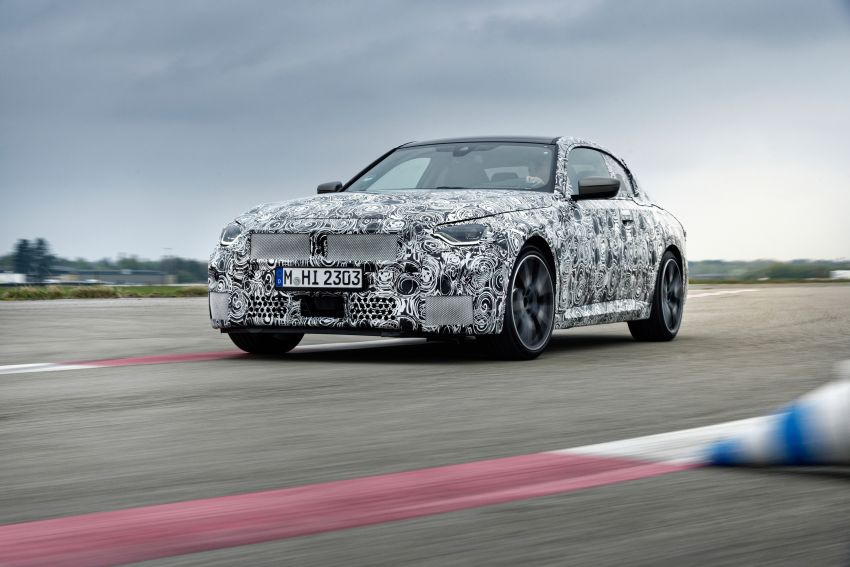 2022 BMW 2 Series Coupe officially teased before debut – M240i xDrive to lead variant range with 374 PS Image #1294283