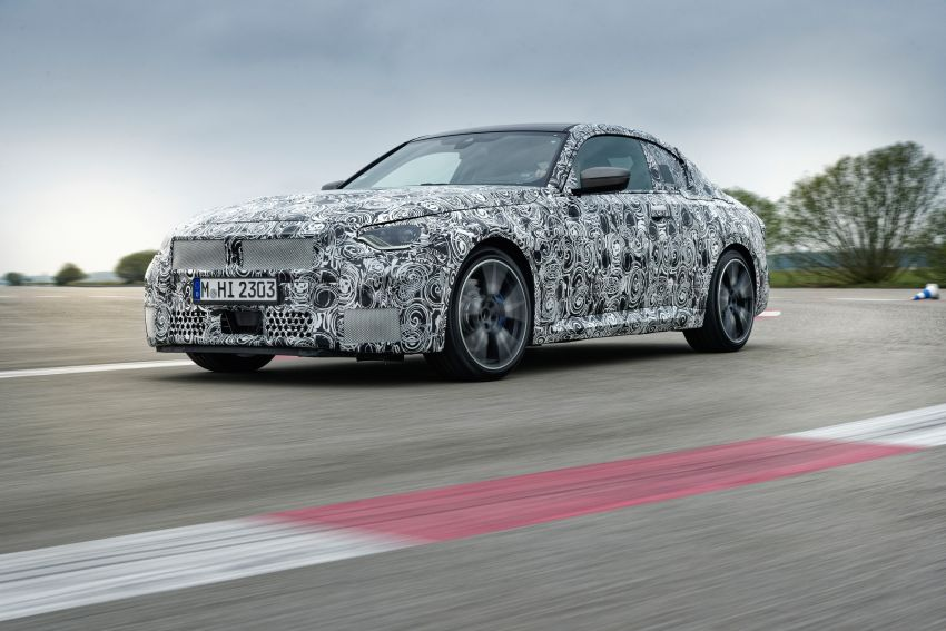 2022 BMW 2 Series Coupe officially teased before debut – M240i xDrive to lead variant range with 374 PS Image #1294285