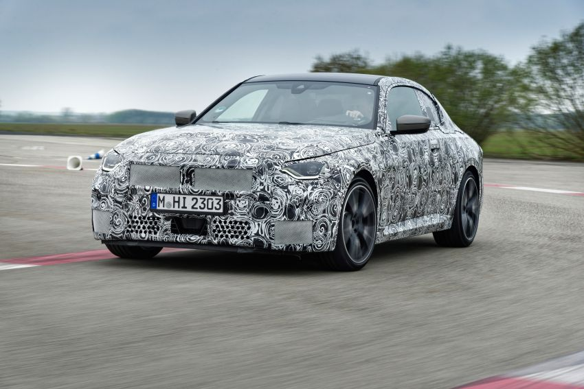 2022 BMW 2 Series Coupe officially teased before debut – M240i xDrive to lead variant range with 374 PS Image #1294287