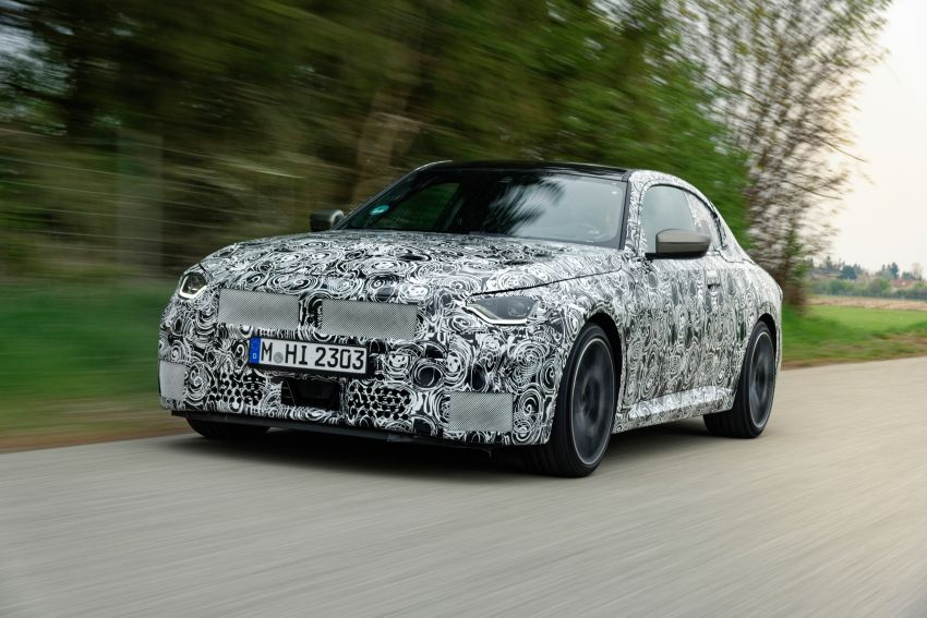 2022 BMW 2 Series Coupe officially teased before debut – M240i xDrive to lead variant range with 374 PS Image #1294293