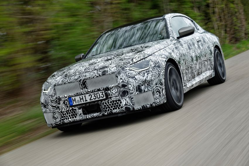2022 BMW 2 Series Coupe officially teased before debut – M240i xDrive to lead variant range with 374 PS Image #1294294