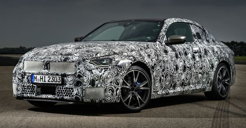 2022 BMW 2 Series Coupe officially teased before debut – M240i xDrive to lead variant range with 374 PS Image #1294297