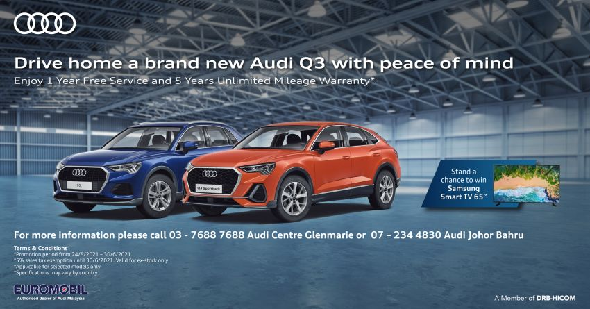 AD: Experience unrivalled style with the Audi Q3 – now more affordable with Euromobil's SST-exempt promo! Image #1297352
