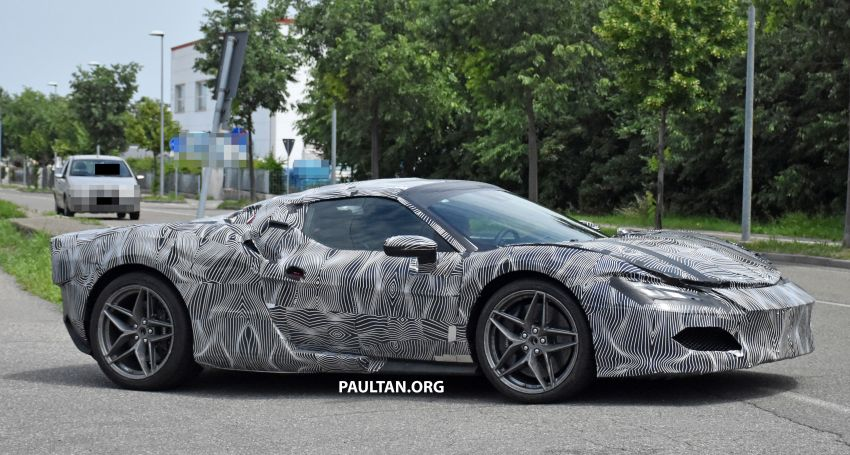 SPYSHOTS: Ferrari V6 hybrid seen running road trials; 3.0L twin-turbo V6 rear-drive hybrid codenamed F171 Image #1300775