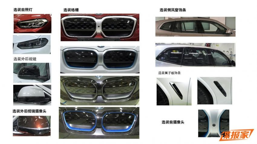 2021 BMW X3 and iX3 facelifts leaked in full – G01 and G08 LCI get bigger grille, new lights and bumpers Image #1294393