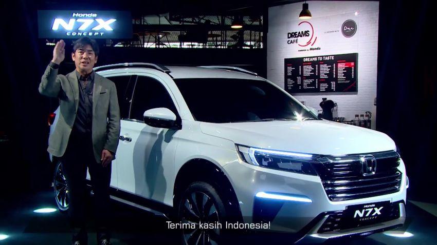 Honda N7X concept previews 2022 BR-V 7-seat SUV Image #1289985