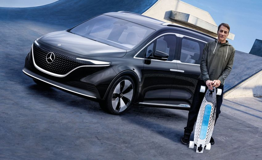 Mercedes-Benz Concept EQT makes its official debut – previews new all-electric version of upcoming T-Class Image #1293345