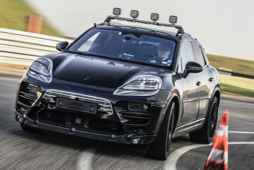 New Porsche Macan – electric SUV starts tests, to be introduced in 2023; petrol version to debut this year Image #1293177