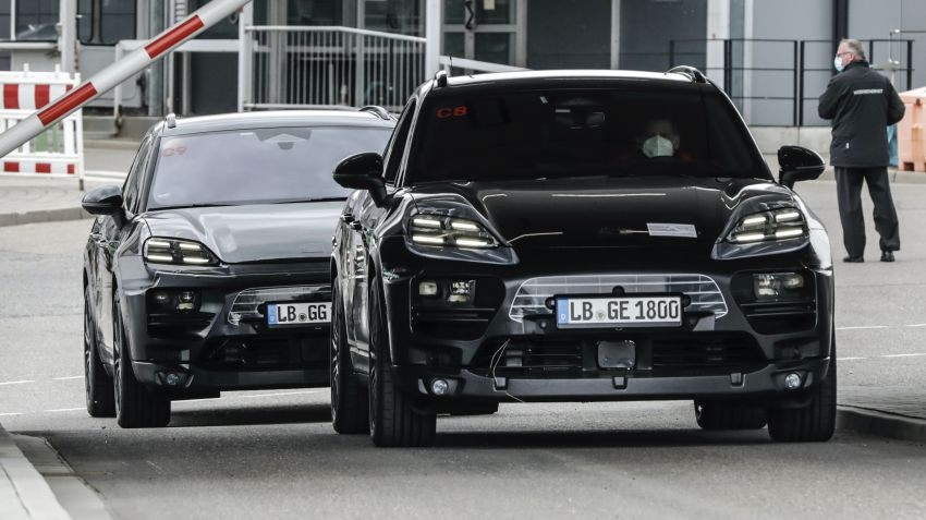 New Porsche Macan – electric SUV starts tests, to be introduced in 2023; petrol version to debut this year Image #1293181