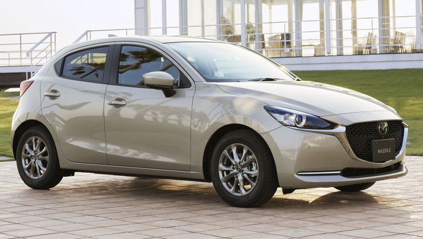 2021 Mazda 2 updated in Japan – high-compression engine, 360 cam, Qi charger, Sunlit Citrus special Image #1313361