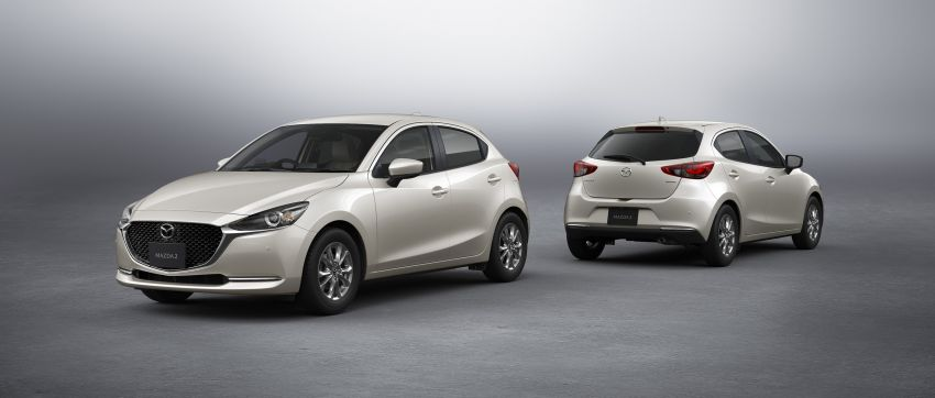 2021 Mazda 2 updated in Japan – high-compression engine, 360 cam, Qi charger, Sunlit Citrus special Image #1313362