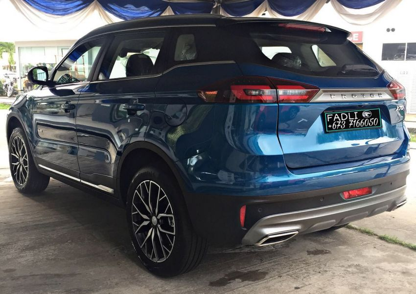 Proton X70 Exclusive Edition for Brunei – 37 units only; 2-tone exterior, new wheels, black Nappa leather Image #1306211