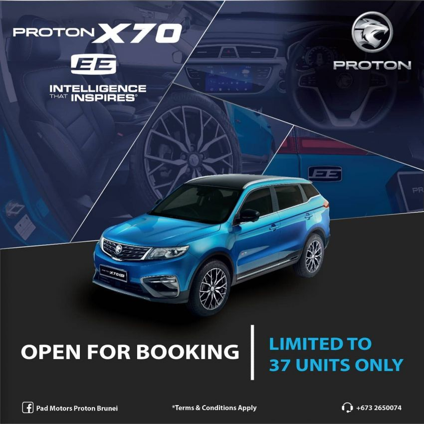 Proton X70 Exclusive Edition revealed for Brunei – two-tone exterior, special wheels, black Nappa leather Image #1305920