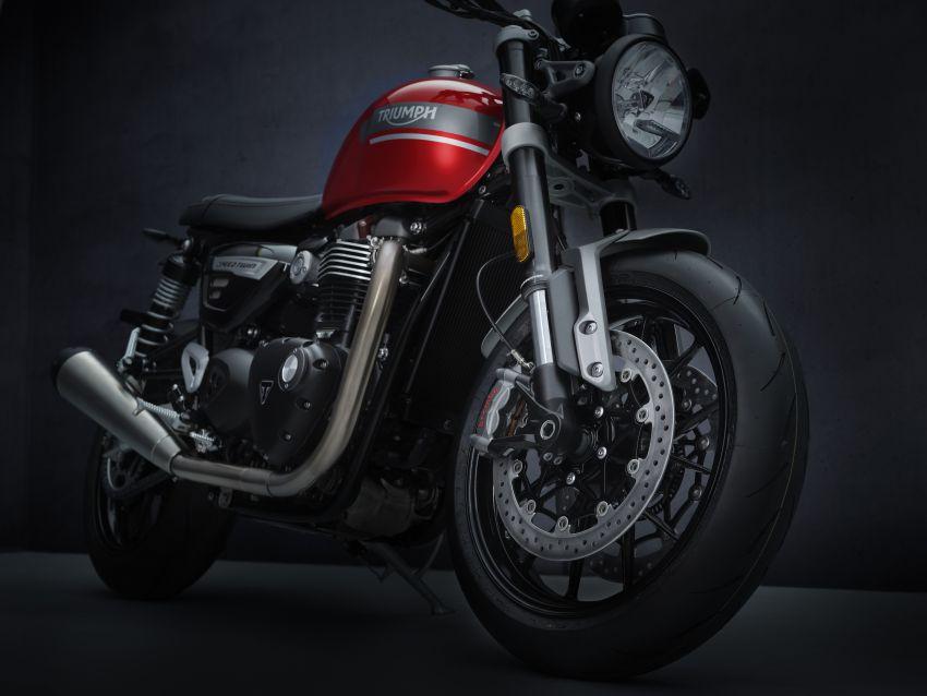 Triumph Speed Twin 2021 diperbaharui – enjin Euro 5, lebih kuasa dan tork, angkup brek Brembo Monobloc Image #1301562