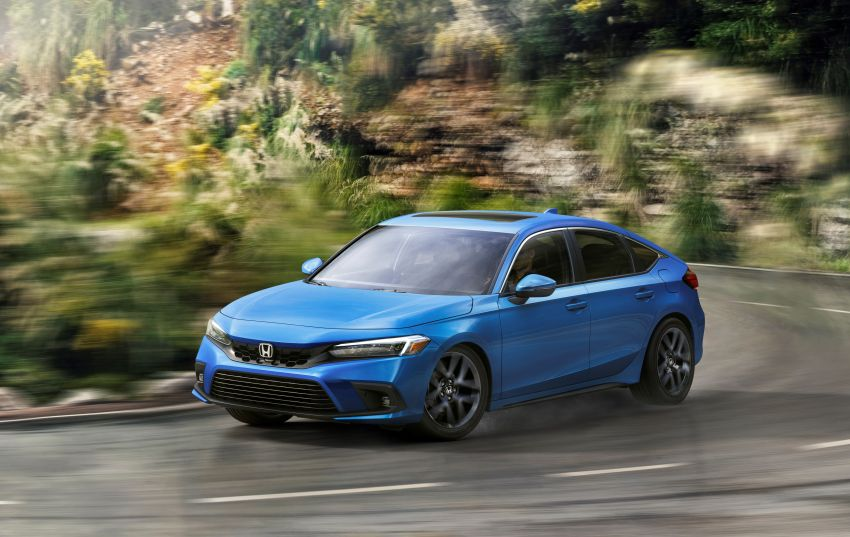 2022 Honda Civic Hatchback revealed with six-speed manual option; e:HEV hybrid and Type R coming 2022 Image #1311202