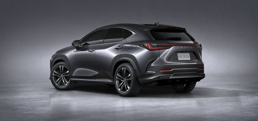 2022 Lexus NX officially revealed – second-gen SUV gets PHEV, 2.4 Turbo; new rear logo, interior concept Image #1306444